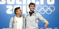 Brian Joubert (ici avec Florent Amodio), participera à ses quatrièmes Jeux Olympiques