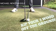 Improve your 3 wood striking from the ground by changing ball position and angle of attack. See how an online Golf Lesson with Michael can help your golf game…… source