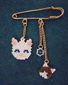 handmade#jewelry#new#brooch#cats#miyuki#beads#nazarboncugu#yaka#ignesi#bros#kediler#taki#tasarim#dizayn#elisciligi#elyapimi#miyuki#boncuk