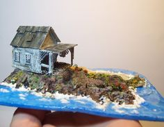 Old house on the beach by fortislandminiatures on Etsy