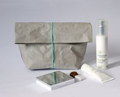 Make up bag made from washable paper Cosmetic by WarmGreyCompany