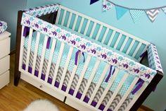 teal and purple nursery