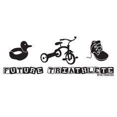 Future Triathlete Baby T-shirt from GoneForaRUN.com
