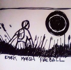 "#draweveryday #everyday "" #dark #marsh #fireball "" outside the #atlantic #city , the #marshes stretch out to the tidal mudflats, if you walk too far onto them, you can encounter the dark fireballs, no one knows what they are... #pen and #ink from my #sciencefiction #3zuniverse www.3zuni.com"