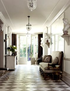 Gracious entry hall ...