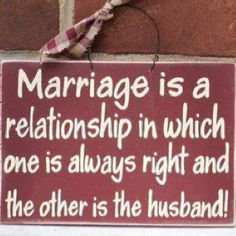 Funny Marriage Quote Sign Picture - Marriage is a relationship