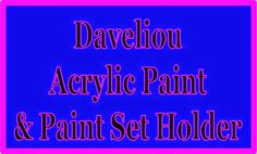 Test + Try =Results                   : Daveliou Acrylic Paint and Paint Set Holder