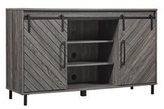 Union Rustic Copenhaver TV Stand for TVs up to 60 Open Shelving, Storage Shelves, Adjustable Shelving, Storage Spaces, Locker Storage, Living Room Built Ins, Living Room Modern, Tv Stand Set, Cabinet Doors