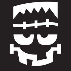 Frankenstein Face Stencil