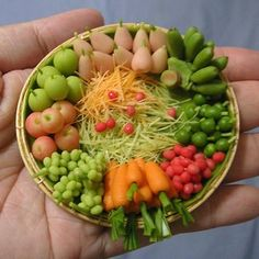 Awesome Mimi- now whatever I make will look like ABC gum! ;) seriously how are people so good at making things so small!? fruit and vegetable platter by Mimi