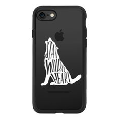 Stay Wild Wolf - White Transparent - iPhone 7 Case And Cover ($39) ❤ liked on Polyvore featuring accessories, tech accessories, phone cases, iphone case, case, transparent iphone case, apple iphone case, iphone cover case, iphone cases and clear iphone case