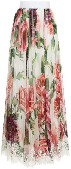 Dolce & Gabbana peony print long skirt Italian Lifestyle, Peony Print, Garden Dress, Printed Long Skirts, Women Wear, Couture, Fashion Designers, Florals, How To Wear