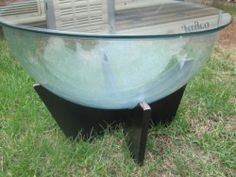 Vintage Timber And Glass Round Coffee Table Terrarium Or Fish Tank Outbid Went For 100 A
