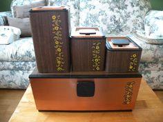Vintage Kromex Bread Box Canister set copper by Traincasesandmore