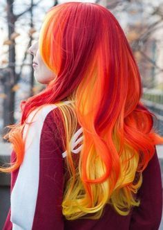 Planning a new hair color? Try this beautiful hair color. New Hair Color Trends, New Hair Colors, Cool Hair Color, Fire Hair Color, Dye My Hair, Your Hair, Cheveux Oranges, Yellow Hair, Orange Yellow