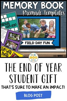 Want to celebrate the end of the school year in a memorable and exciting way with your students? Memory slideshows are a great way to end the year and both students & families will love it! Head to this blog post to learn more about how you can use an end of year memory book with students this year. Student Gifts End Of Year, Field Day, Memory Books, 5th Grades, Fun Math, Learning Activities, Distance, Families, How To Memorize Things