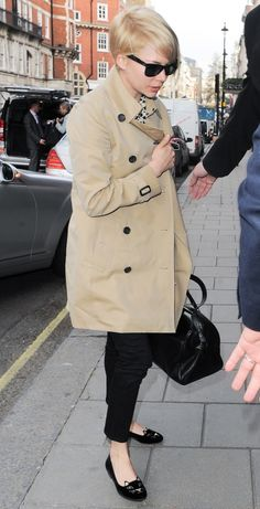 Michelle Williams seen arriving at her hotel the Claridges in London UK