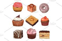 1041380  hand drawn realistic chocolate food illustration cake vector dessert sweet isolated snack plate menu delicious birthday white cream cafe cupcake icon 3d candy holiday tasty pastry brown sketch set restaurant muffin calorie baking cherry icing liquid gourmet decorated drawing design cup colorful graphic drawn cute black waffle collection coffee background drink pie syrup cooking decoration dark party doodle unhealthy treat sugar sprinkles strawberries swirl cook old anniversary…