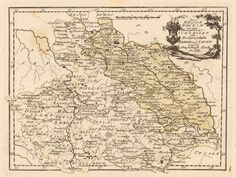 Vintage Map of Czechoslovakia ...mostly the Czech Republic with Prague apparently at 50/32 (map coordinates) and current Slovakia disappearing to the bottom right. The Oder River is mostly in Poland today, making the yellowish area Poland. Names in German.