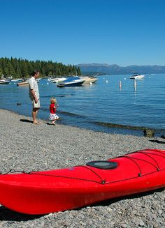 This gorgeous little beach is right next to Sunnyside Restaurant and Lodge at Lake Tahoe. This Lake Tahoe beach is called William Kent Beach and has a public access with picnic tables and bathroom. Pop into Sunnyside for cocktails, food and fun.