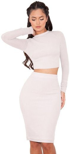 Pin for Later: Co-Ord Sets Are Making Matchy-Matchy More Than Cool Arabella Stretch Rib Knit Two Piece Arabella Stretch Rib Knit Two Piece (£109)