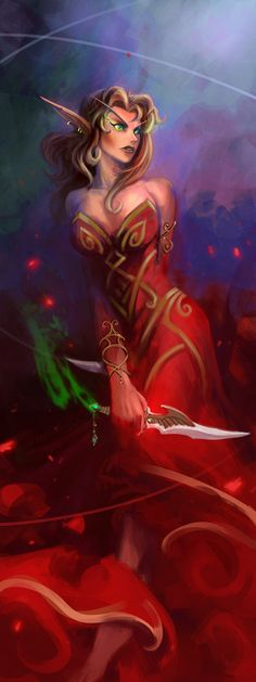 Dance of the Red Rose - Blood Elf - World of Warcraft | breathing2004