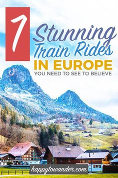 7 Jawdropping Train Rides You Can't Miss in Europe, TRAVEL, The most beautiful and scenic train rides in Europe! Don't miss this seriously epic rail travel bucket list on your next trip to Europe. Backpacking Europe, Europe Travel Guide, Travel Guides, Travel Destinations, Europe Europe, Europe Packing, Packing Tips For Vacation, Eastern Europe, Europe Train Travel