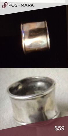 Silpada sterling silver hammered ring Silpada sterling silver hammered ring. Size 7 but runs very small closer to a 6. Silpada Jewelry Rings