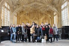 Students at the Divinity School on a field trip to Oxford. Photo by Yulia Dotsenko.