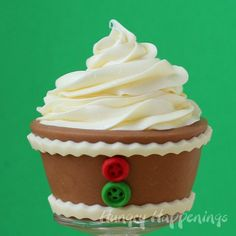 Edible Christmas Cupcake Wrappers – Gingerbread Design