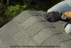 How to install asphalt shingles nailing on ridge cap