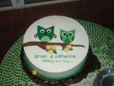 owl bridal shower cakes | owl cake