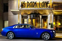 Book the Penthouse suite at 45, Park Lane, London and experience the Rolls-Royce Wraith