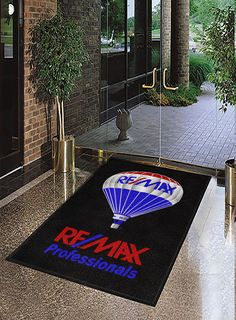 Real Estate Logo Rugs keep branding consistent, are perfect for open house, make great client gifts, and keep floor clean. Free Artwork and samples