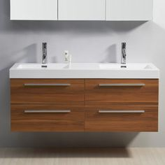 Finley 54 Floating Double Bathroom Vanity Set