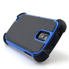 Click Image to Browse: $9.95 Aqua Blue X Shield Double Layer Hard Case Gel Cover For Samsung Galaxy S2 (Hercules T989)