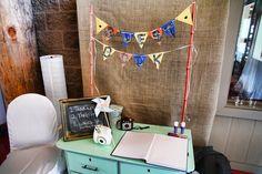 Vintage dresser made wedding guest book table