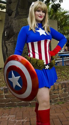 Ms Captain America by Indefinitefotography on deviantART  sc 1 st  Pinterest & Superhero Costumes Women on Pinterest | Super Hero Bday | Pinterest ...
