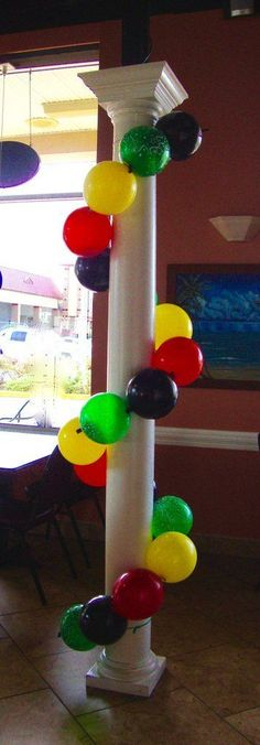 Wrap a pole of pillar with link balloons. Custom made to fit the size of the…