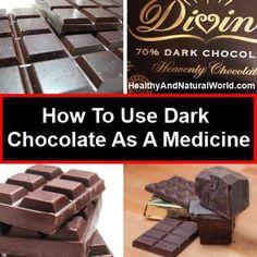 How To Use Dark Chocolate As A Medicine