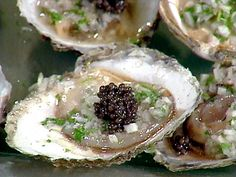 Belon Oysters with Champagne with Chervil Mignonette and Beluga Caviar