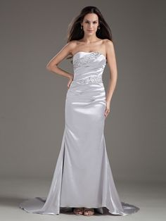 Elastic Woven Satin Sweetheart Strapless Beading Mermaid Lace-up Evening Dress.You can customize the color and size at nextdress.co.uk