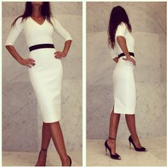 Chic beckham white 12064 designers dresses victoria sheath dresses