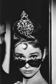 "Ms. Hepburn as Holly Golightly in Truman Capote's ""Breakfast at Tiffany's"", 1961. I eat a danish in front of Tiffany's whenever I'm in NYC."