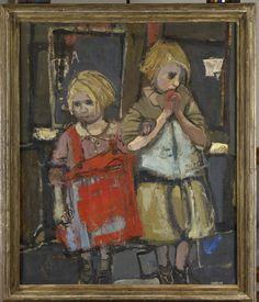 Joan Eardley − Glasgow Children, 1958, Oil on canvas, 38x30 in