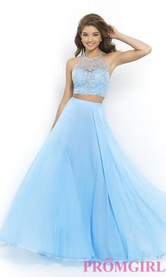 Image of Beaded Two Piece Prom Dress by Blush 9935 Style: BL-9935 Front Image