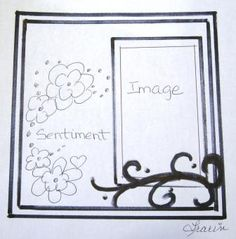 Sketch carte - boutique Art du Scrapbooking