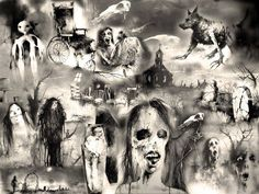 I loved the Scary Stories books when I was a kid, largely because of the creepy illustrations.  :)