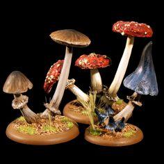 28mm Fantasy Giant Mushrooms Scenery for Wargaming