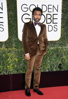 Donald Glover - All The Looks At The 2017 Golden Globes